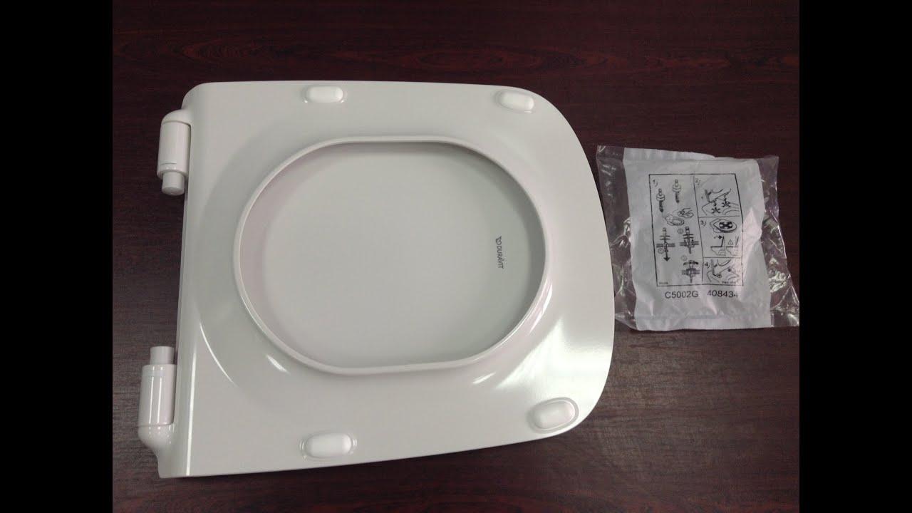 unboxing toilet seat duravit durastyle slow closing