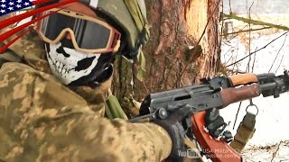 米軍が軍事指導するウクライナ軍兵士の市街地戦闘訓練 - US Military Teaching Ukrainian Soldiers Urban Combat Training