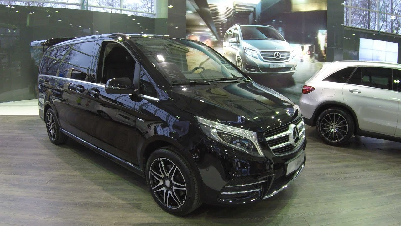 mercedes benz v class long avantgarde amg line obsidian black walkaround interior. Black Bedroom Furniture Sets. Home Design Ideas