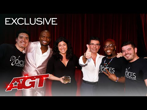 Terry Crews Sends Love To His Golden Buzzer, Voices Of Our City Choir - America's Got Talent 2020
