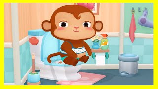 dr panda bath time   baby play learn about hygiene routine   fun game for kids families