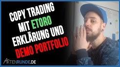 Copy Trading mit eToro: Erklärung und Demo Portfolio