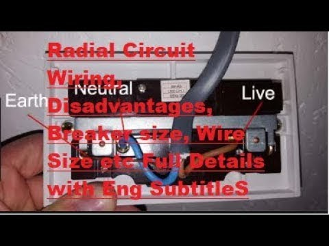 radial-circuit-wiring,-disadvantages,breaker-size,-wire-size-etc-full-details-with-eng-subtitles