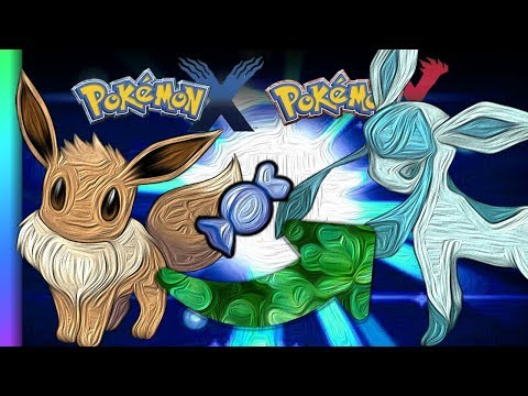 HOW TO Evolve Eevee into Glaceon in Pokemon XY