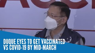 Duque eyes to get vaccinated vs COVID-19 by mid-March