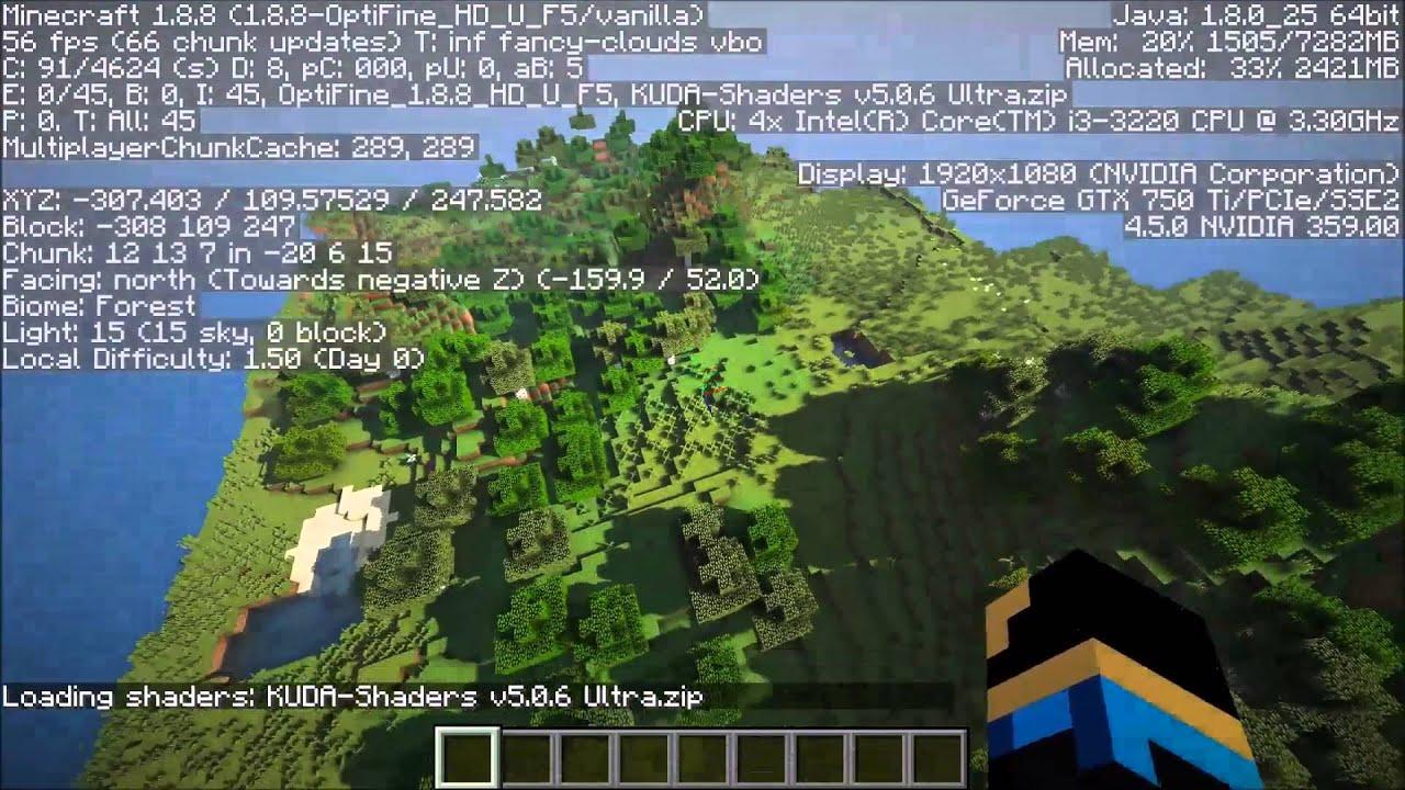 Minecraft Nvidia Geforce Gtx 750 Ti Shaders Benchmark Hd