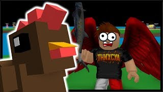 THE MIGHTY FISH SWORD & KING CHICKEN TAKE DOWN! | Roblox Egg Farm Simulator