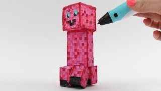 Pinkie Pie Creeper Style Draw with 3D PEN from MInecraft and My Little Pony Video for Kids