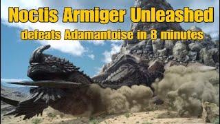 Final Fantasy 15 Royal Edition - Noctis Armiger Unleashed defeats Adamantoise in 8 minutes # 16