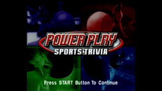 Power Play Sports Trivia (PS1) - Let