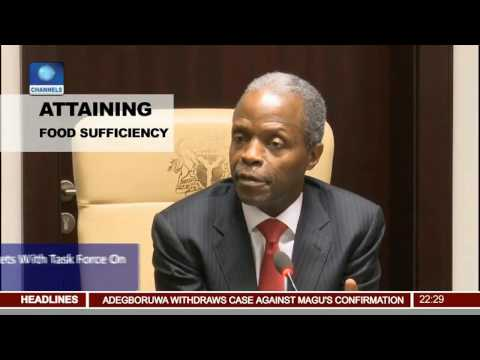 Osinbajo Meets With Task Force On Rice And Wheat