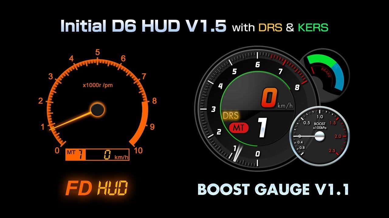 Initial D Arcade HUD - Updates | RaceDepartment - Latest Formula 1