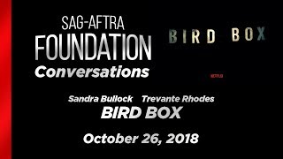 Conversations with Sandra Bullock and Trevante Rhodes of BIRD BOX