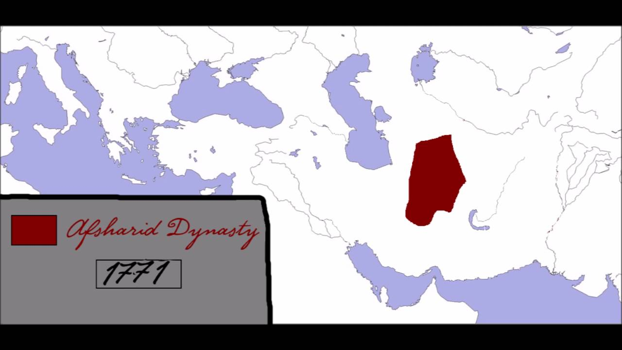 Rise and Fall Afsharid Dynasty: Every Year[MAP] - YouTube