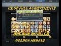 CSGO Map Achievements--Global Expertise Medal- #- Golden Medal-