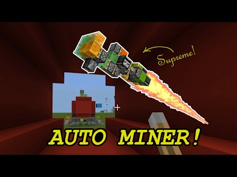 AFK Tunnel Bore / Auto Miner For Minecraft Bedrock Edition