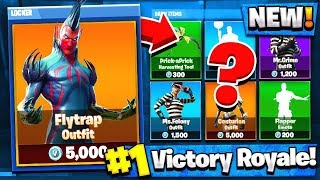 "NEW Fortnite ""Flytrap"" SKINS GAMEPLAY! - Fortnite: Battle Royale Live w/ My Little Brother"