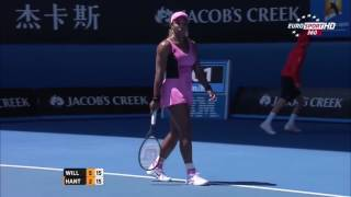 Serena Williams vs  Daniela Hantuchova AO 2014 Highlights