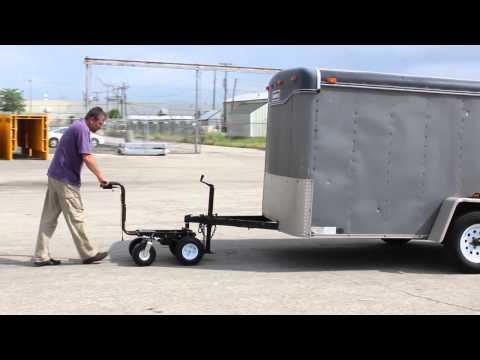 Electric powered trailer dolly by overland carts youtube for Motorized trailer dolly rental