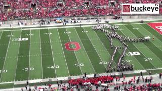 "Ohio State Marching Band ""Michael Jackson Tribute"" - Halftime vs. Iowa: 10-19-13"
