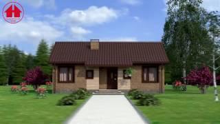 видео Проект кирпичного двухэтажного дома площадью 524.10 м2