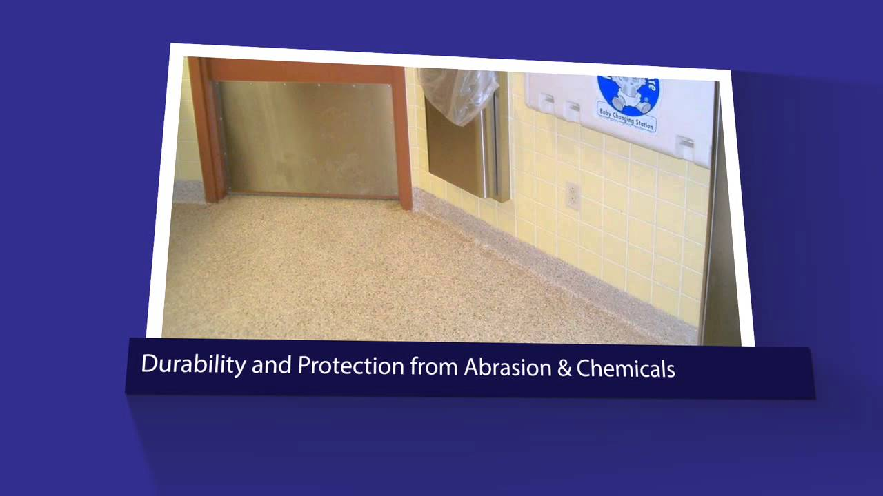 Commercial Public Restroom Flooring | Seamless Coatings - YouTube