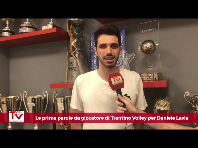 Daniele Lavia, la prima intervista da giocatore di Trentino Volley