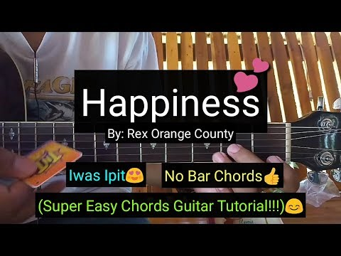 Happiness - Rex Orange County (Easy Chords Guitar Tutorial)