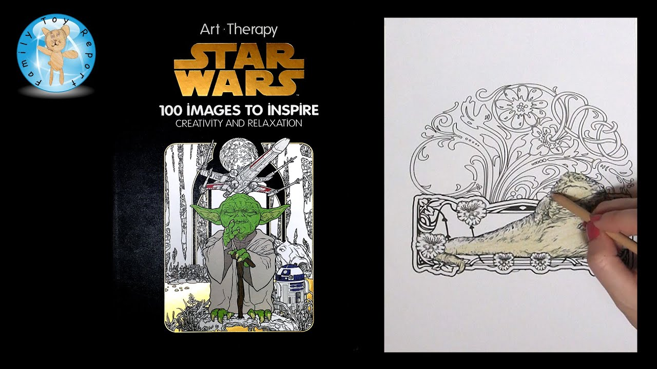Art Therapy Star Wars Adult Coloring Book Jabba The Hut Prismacolor