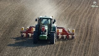 John Deere 6920 & 11 rows MaterMacc / Seeding sunflower