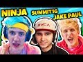 NINJA REACTS TO SUMMIT1G PLAYING WITH JAKE PAUL | Fortnite Daily Funny Moments Ep.30
