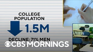 Why men are lagging behind women in college enrollment