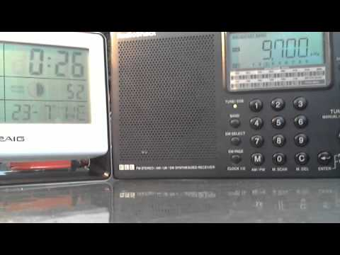 Radio Romania 9.700KHz 0:00 UTC July 22, 2014