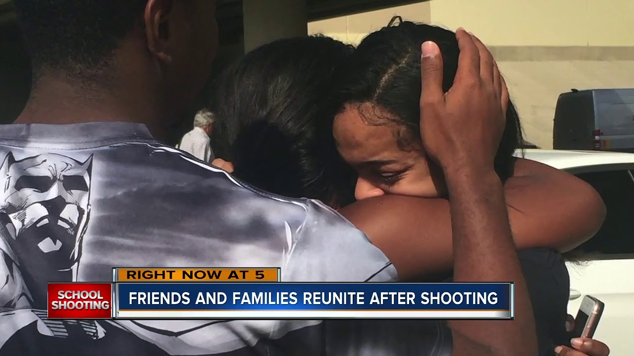 Friends and families reunite after Parkland school shooting