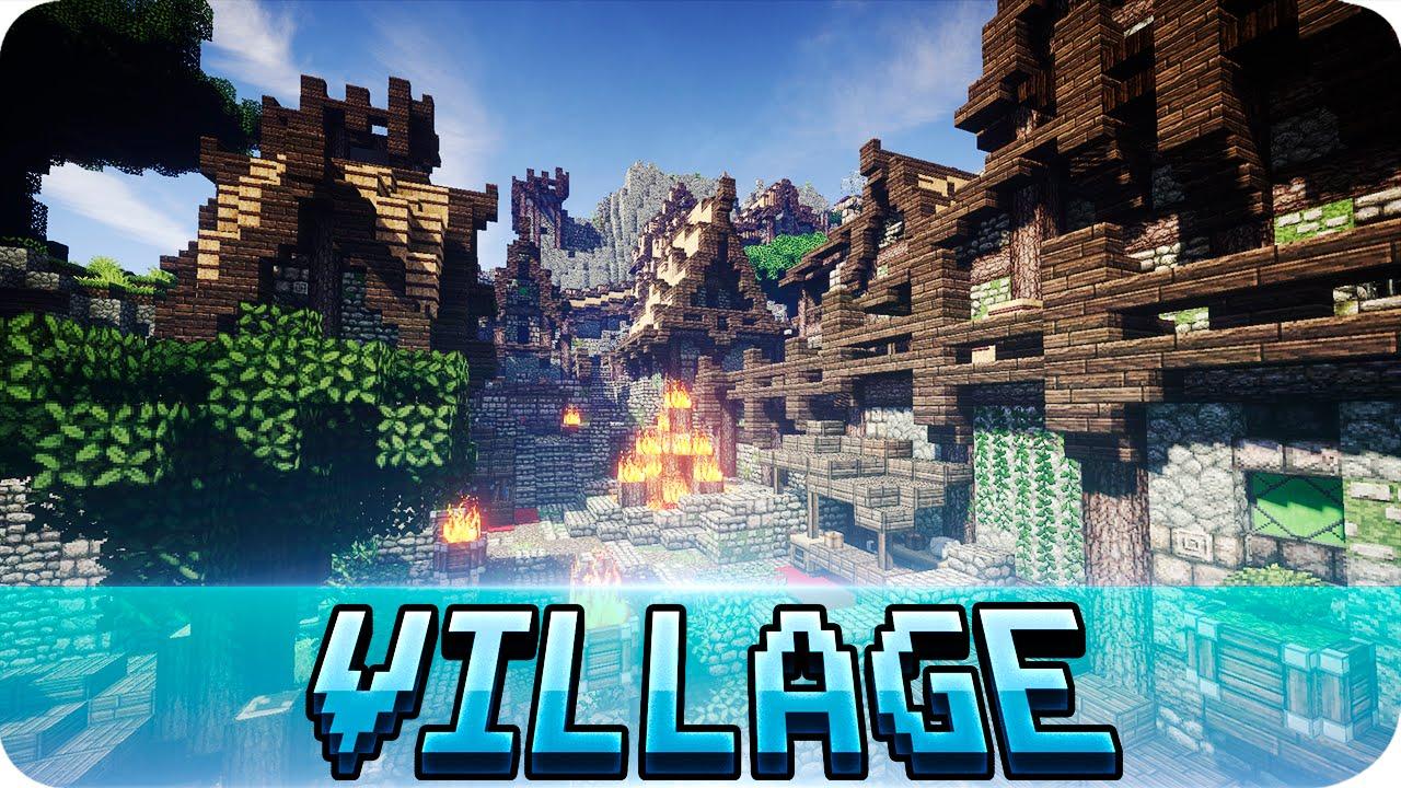 Minecraft Viking Village Cinematics Map W Download YouTube - Minecraft wikinger hauser