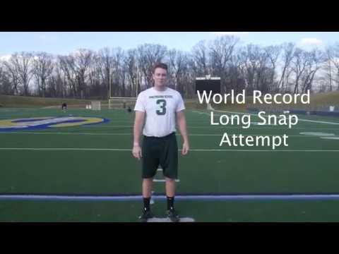 Taybor Pepper Worlds Longest Long Snap 37 1/2 Yards