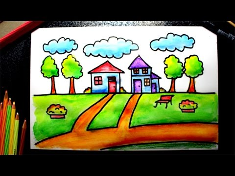 How To Draw A Simple House For Kids Very Easy
