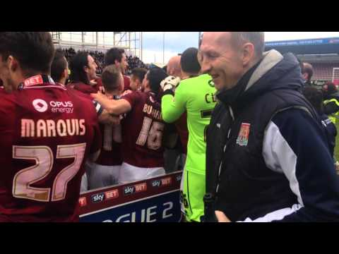 Northampton Town's Sky Bet League 2 presentation ceremony