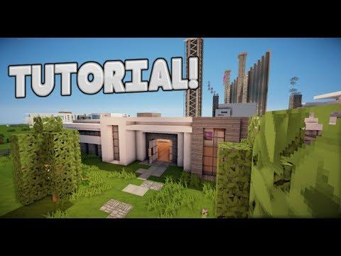 Minecraft como hacer una casa moderna tutorial de for Casa moderna minecraft ita download