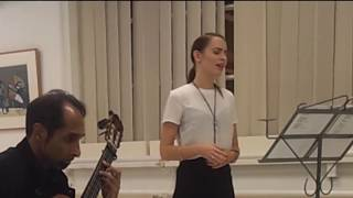 Concert Flóra Tandi & Róbert Sinha  na expositie Buddy Hermans in Aldtsjerk