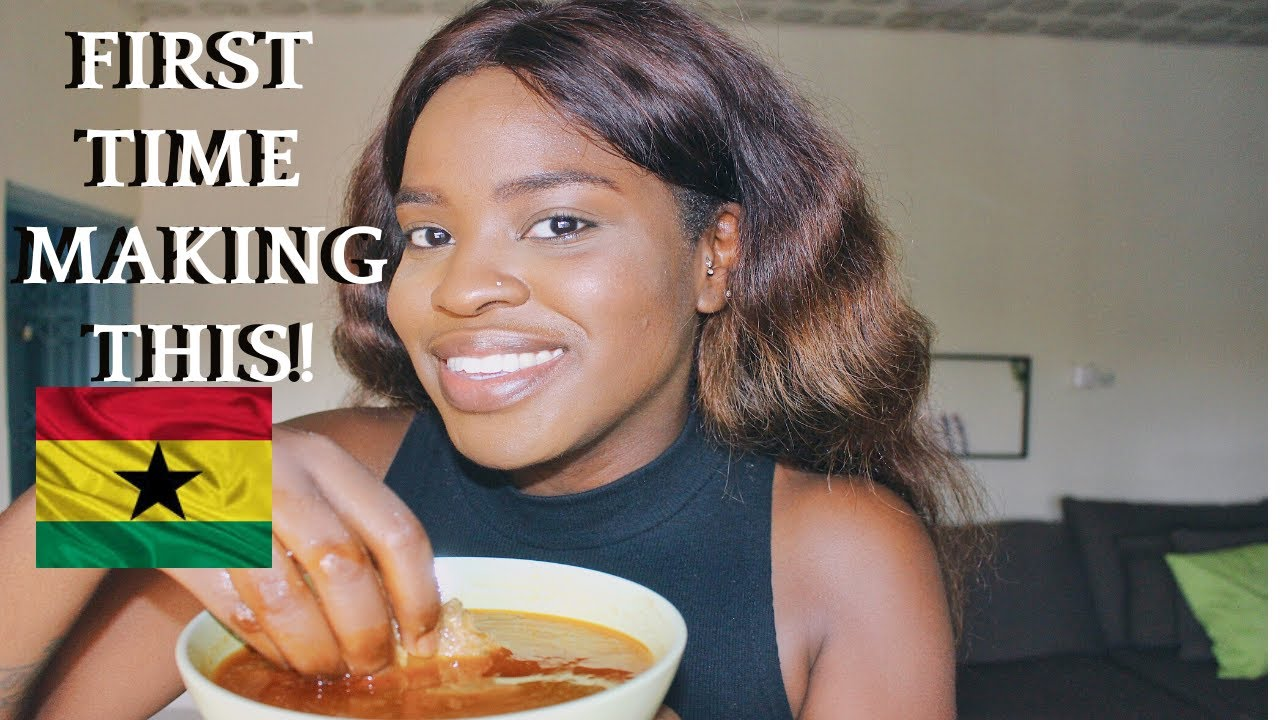 WHAT GHANAIAN DISH DID I MAKE? FIRST TIME COOKING THIS GHANA SOUP | HOW TO COOK