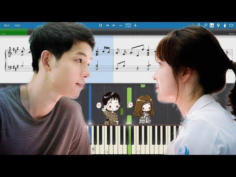 Davichi - This Love (Descendants Of The Sun) EASY Piano Tutorial + Sheet Music By Suraj Khanna