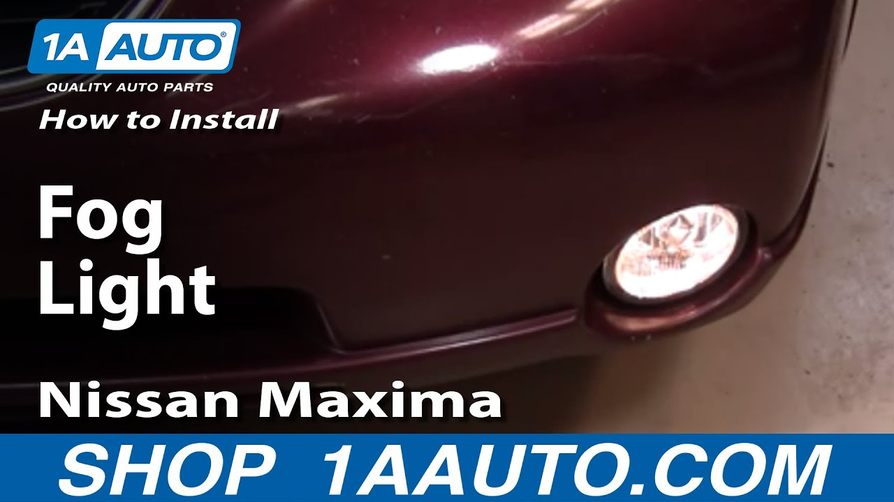 maxresdefault how to install replace fog light nissan maxima 00 01 1aauto com  at bakdesigns.co