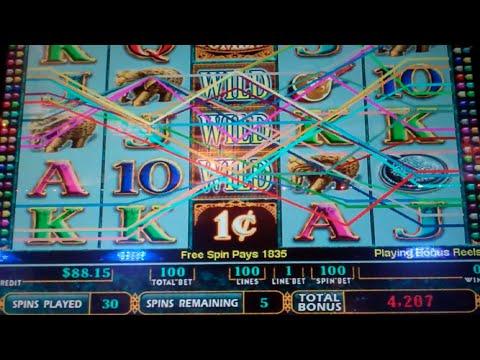 Bombay Slot Machine Bonus - 35 Free Games with Stacked Wilds - Nice Win
