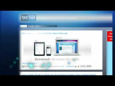 Presentazione del nuovo sito di Sky News Italia.net.