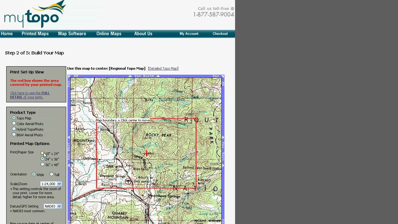 Ordering a MyTopo Topographic Map - YouTube