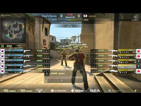 The World Championships 2015 Asian Qualifier | South Korea vs. Japan | (Map: Mirage)