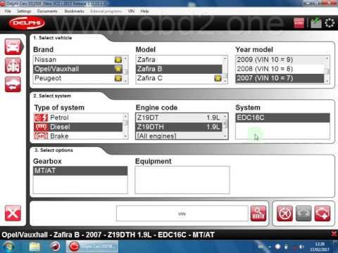 Delphi DS150E 2015 1 R3 Test on Zafira 2007