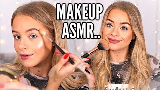 DOING MY EVERYDAY MAKEUP IN ASMR.. WHISPERING, TAPPING, RELAX/SLEEP