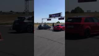 Audi RS3 8V nardo grey vs AUDI S3 8v 1/4 mile